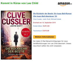 Lee Child statt Clive Cussler